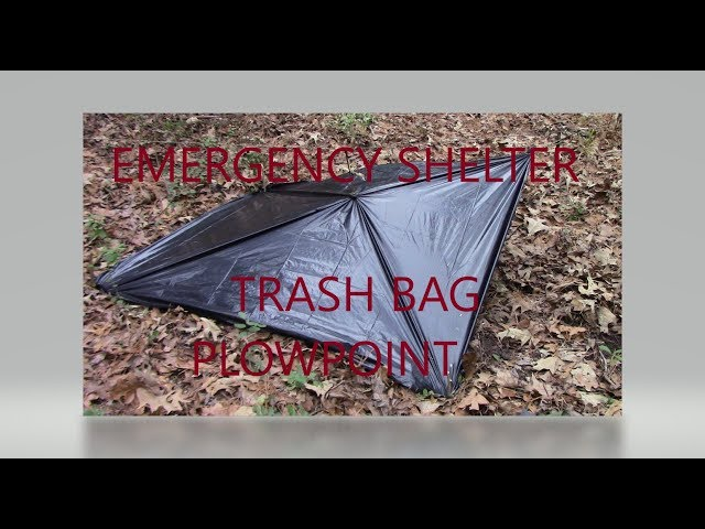 Trashbag Emergency Shelter: Plow Point Shelter Part Two