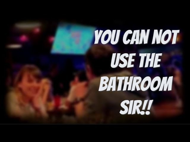 Homeless Hobo Meltdown Over Bathroom Usage Being Denied!