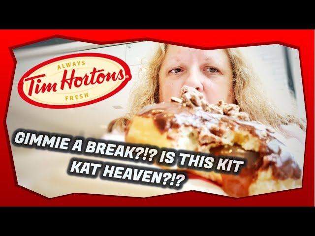 Tim Horton's Kit Kat Donut And Kit Kat Ice Capp