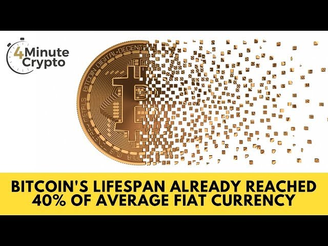 Bitcoin's Lifespan Has Already Reached 40% of An Average Fiat Currency