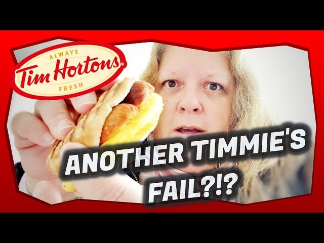 Tim Horton's Smokey Sausage Multigrain Flatbread Breakfast Sandwich
