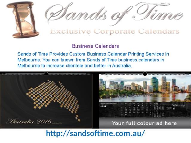 Sands of Time - Buy Business Calendars Online