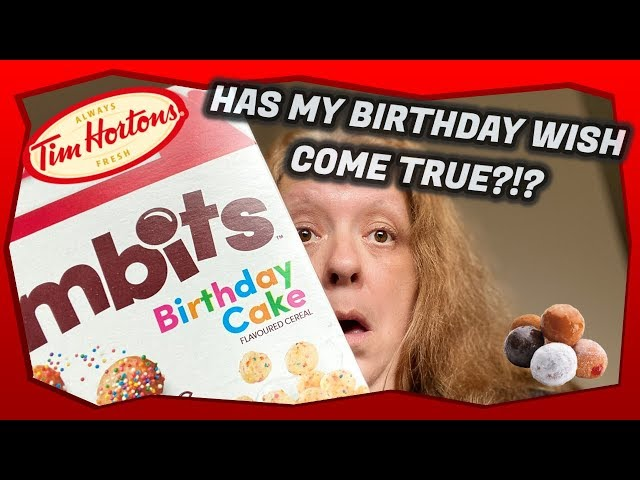 NEW! Timbits Birthday Cake Cereal From Post