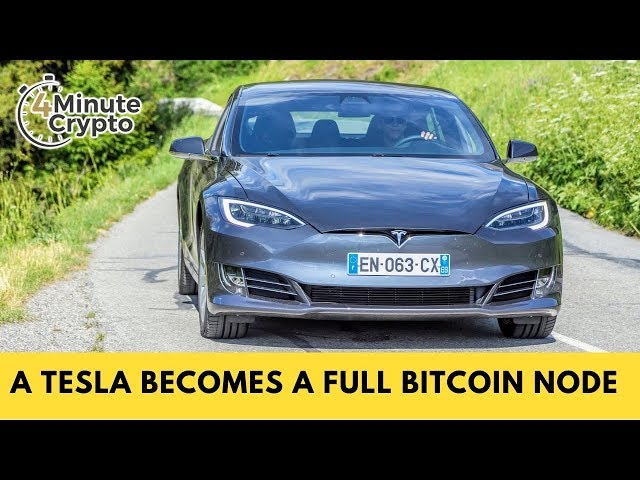 A Tesla Becomes a Full Bitcoin Node