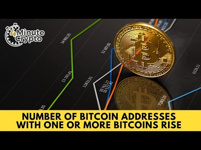 Number of Bitcoin Addresses With One or More Bitcoins Rise