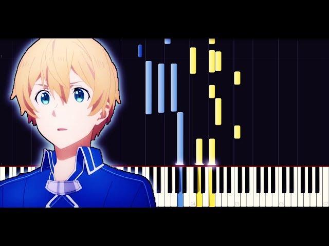Sword art online: Alicization ED3 (EP19) - Niji no Kanata ni (Piano + Sheets)