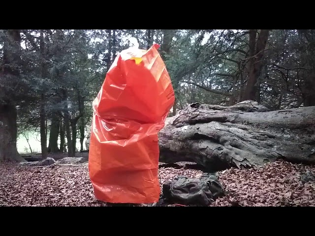 Proper use of a BCB Survival Bag